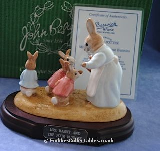 Beswick Beatrix Potter Mrs Rabbit And The Four Bunnies quality figurine