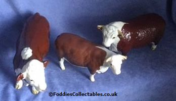 A wide range of Hereford cattle from Beswick