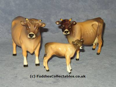 A wide range of Jersey cow figurines from Beswick