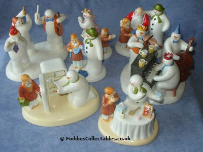 Coalport Quality Collection Of Snowman Figurines