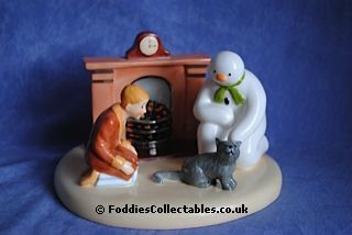 Coalport Snowman By The Fireside quality figurine