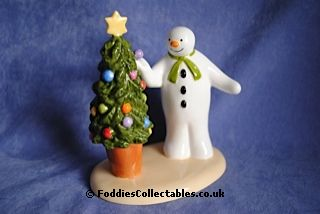 Coalport Snowman Christmas Cheer quality figurine