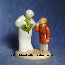 Coalport Snowman Hush Dont Wake Them quality figurine
