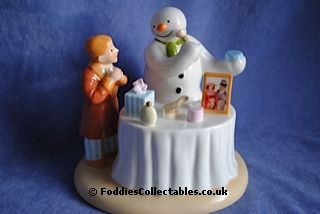 Coalport Snowman Sitting Pretty2 quality figurine
