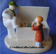 Coalport Snowman Time To Cool Down quality figurine