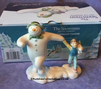 John Beswick Snowman Taking Off quality figurine